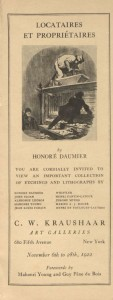 "from ""Locatiares et proprietaires by Honore Daumier : ... an important collection of etchings and lithographs by Honore Daumier"""