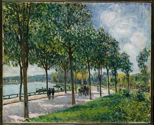 """Allée of Chestnut Trees,"" Alfred Sisley (1878); © The Metropolitan Museum of Art"
