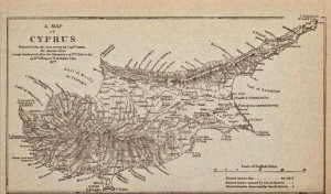Map of Cyprus from 1877
